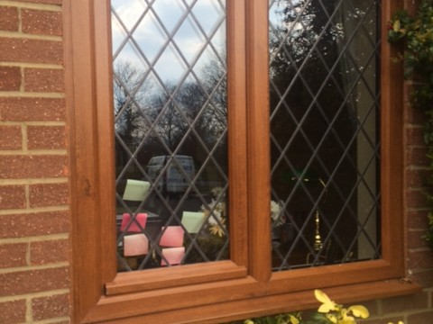 Replacement diamond-leaded window from Jones UPVC