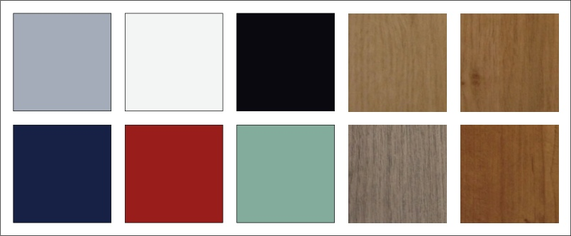 Some of the colours available for doors and window frames from Jones uPVC