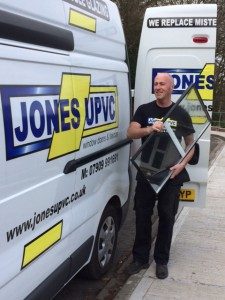 Kerry Jones - owner of Jones uPVC by his van