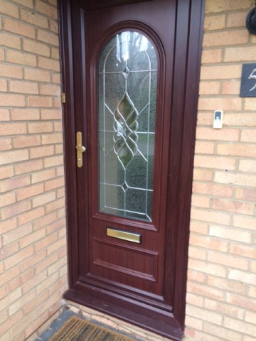 Mahogany front door from Jones UPVC