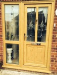 Replacement wood-effect front door from Jones uPVC