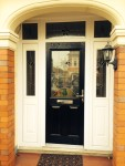 New front door styled to fit the house architecture by Jones uPVC