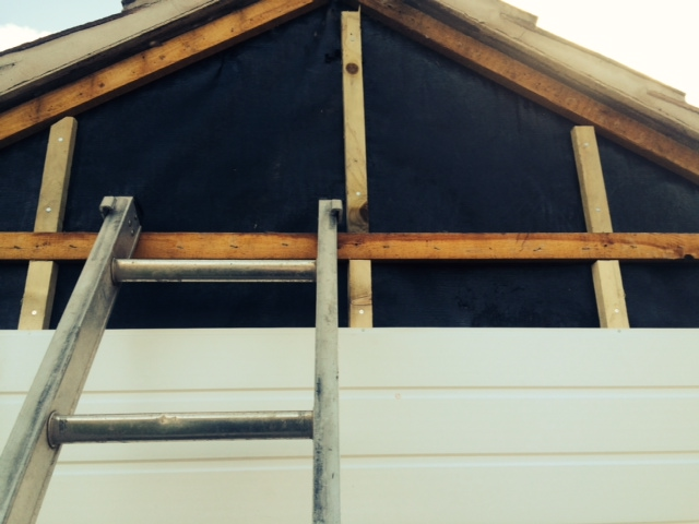 Replacement battens behind the cladding for added strength
