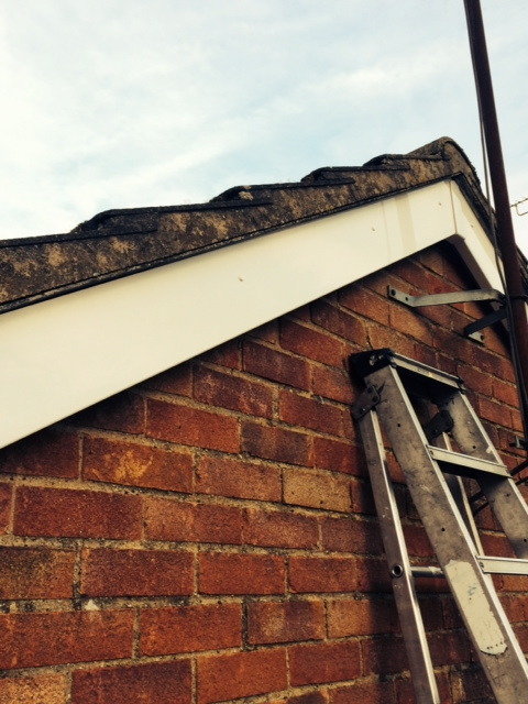 The soffits were replaced as well