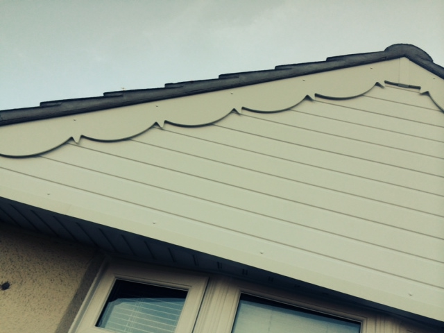 Close up of replacement decorative fascia boards